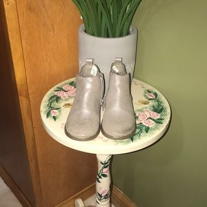 GAP silver sparkle ankle boots